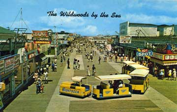 tram car vintage wildwood